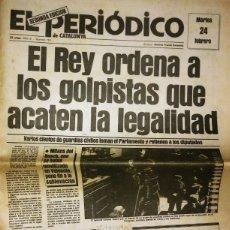 Militaria: GOLPE DE ESTADO 23F. EL PERIÓDICO DE CATALUNYA. 24 DE FEBRERO 1981. SEGUNDA EDICIÓN. 39 PÁGINAS. Lote 120156691