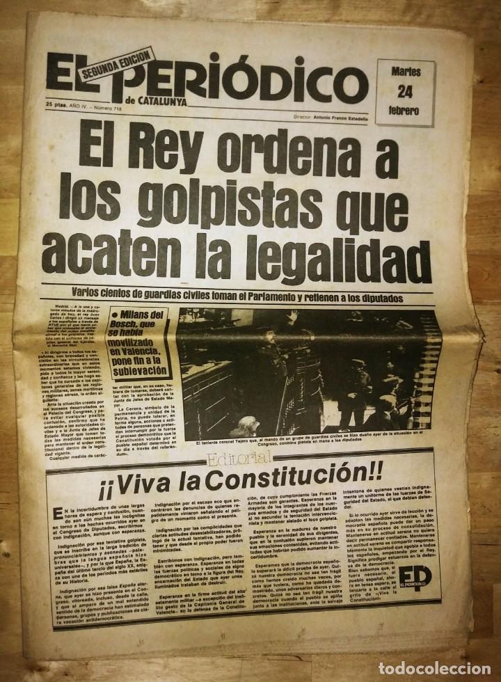 Militaria: Golpe de estado 23F. El Periódico de Catalunya. 24 de febrero 1981. Segunda edición. 39 páginas - Foto 2 - 120156691