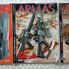 Militaria: LOTE REVISTAS ARMAS, NÚMEROS 334, 327, 325 MC EDICIONES 2010. Lote 153527176