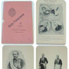 Militaria: GUIA PALACIANA IMPOSICION DE LA BIRRETA, 2 CUADERNO, 22 PAG. + LAMINAS DE ISABEL II, ALFONSO XIII, . Lote 154233334