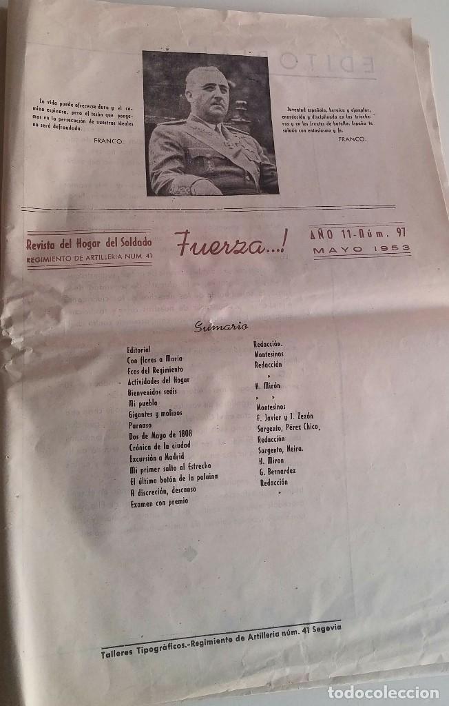 Militaria: Revista del hogar del soldado. Fuerza. Mayo 1953 - Foto 3 - 154728066