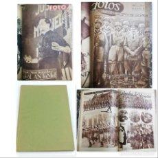 Militaria: 7 REVISTAS FOTOS, FALANGE, NÚMERO ESPECIAL JOSE ANTONIO PRIMO DE RIVERA, FRANCO, HITLER, GUERRA CIVI. Lote 154940218