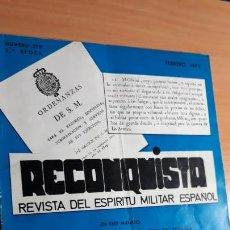 Militaria: RECONQUISTA. REVISTA DEL ESPÍRITU MILITAR ESPAÑOL FEBRERO 1973 Nº 278. Lote 155434938
