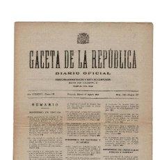 Militaria: GACETA DE LA REPÚBLICA.- AGOSTO 1937. Lote 155488722