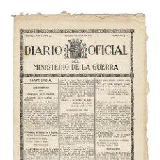 Militaria: DIARIO OFICIAL OCTUBRE 193. MINISTERIO DE GUERRA. Lote 155489730