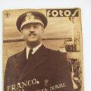 Militaria: L-99. REVISTA FOTOS. FRANCO TRIUNFADOR EN BARCELONA. 4 DE MARZO DE 1939. NÚMERO 105.. Lote 157005510