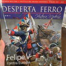Militaria: DESPERTA FERRO HISTORIA MODERNA Nº39 FELIPE V CONTRA EUROPA. Lote 157817649