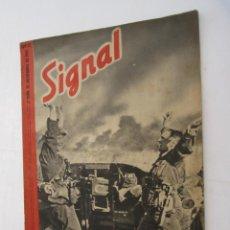 Militaria: REVISTA SIGNAL Nº 22 NOVIEMBRE 1941 - CASTELLANO - 47 PG. MUY BUEN ESTADO. . Lote 158297470