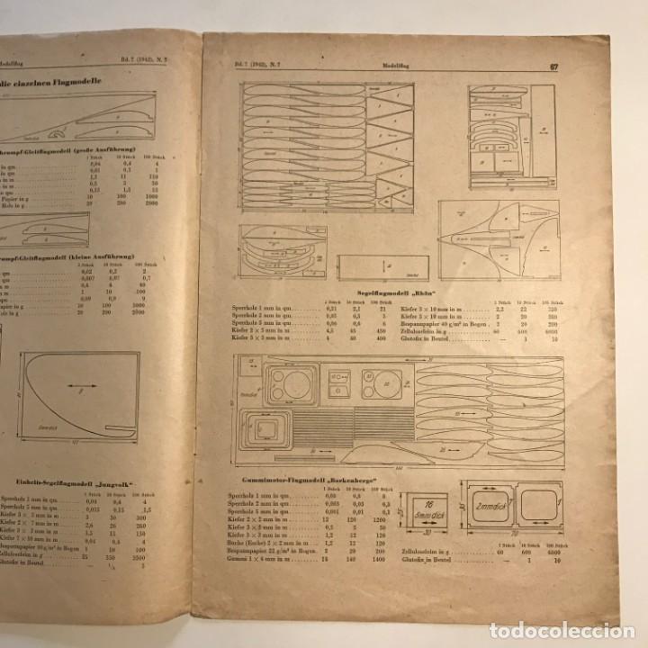 Militaria: 1942 Revista alemana Deutsche Luftwacht Ausgabe Modellflug 21x29,7 cm - Foto 4 - 159447594
