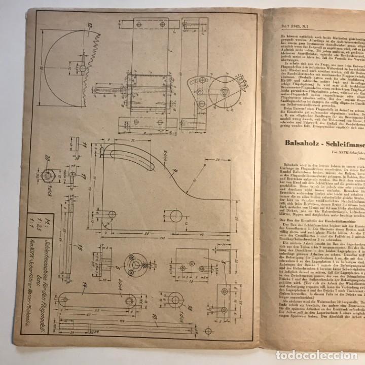 Militaria: 1942 Revista alemana Deutsche Luftwacht Ausgabe Modellflug 21x29,7 cm - Foto 5 - 159447594