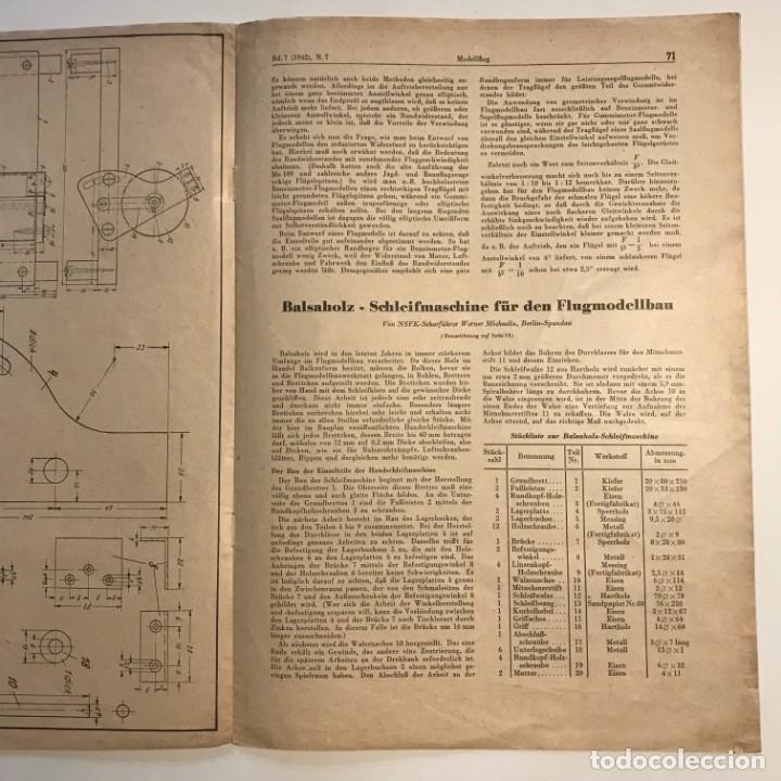 Militaria: 1942 Revista alemana Deutsche Luftwacht Ausgabe Modellflug 21x29,7 cm - Foto 6 - 159447594