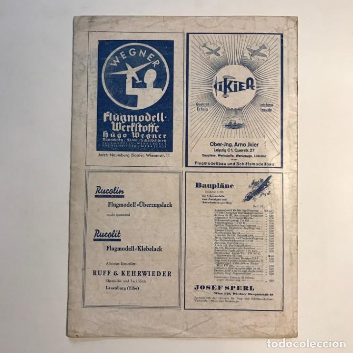 Militaria: 1942 Revista alemana Deutsche Luftwacht Ausgabe Modellflug 21x29,7 cm - Foto 7 - 159447594