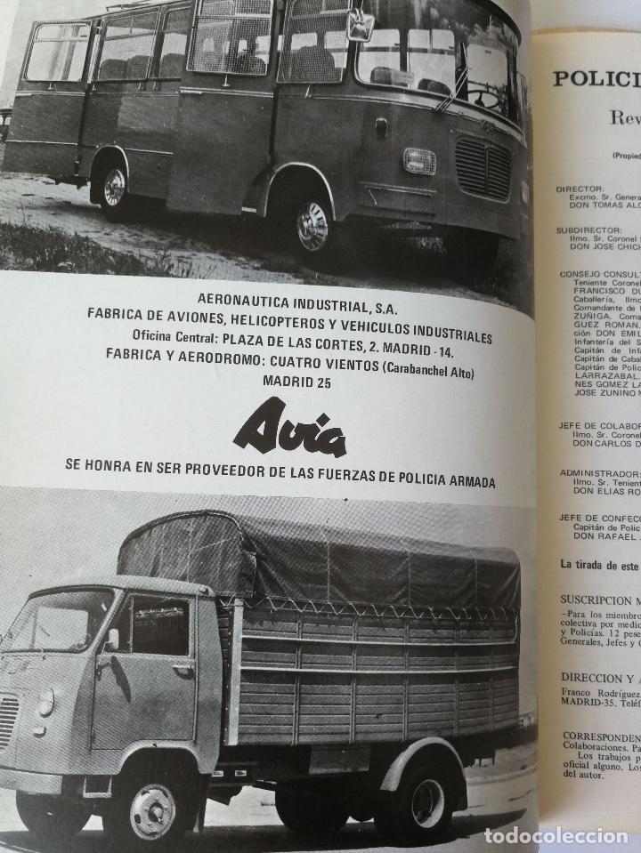 Militaria: ANTIGUA REVISTA - POLICIA ARMADA Nº 19 1973 - ESCOPETA RUDO, BANDERA 64 PAMPLONA, ORENSA, LA ACADEMI - Foto 6 - 159722786