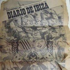Militaria: PERIÓDICO MILITAR DIARIO DEL ACUARTELAMIENTO DE IBIZA SA COMA. SEPTIEMBRE 1979. 8 PAG.. Lote 159973382
