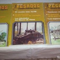 Militaria: LOTE 9 REVISTAS MEDIOS PESADOS. Lote 160287582