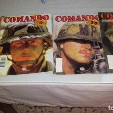 Militaria: LOTE 4 REVISTAS COMANDO. Lote 160288174