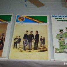 Militaria: LOTE 8 REVISTAS SOLDADOS VIEJOS Y ESTROPEADOS. Lote 160289066
