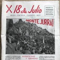 Militaria - Periódico Requeté 18 de Julio N° 4 (Mayo - Junio 1959) - Montejurra - Carlismo - 160466214