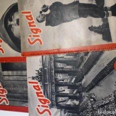 Militaria: LOTE REVISTAS SIGNAL 1940 N 3/9/14/15. Lote 162375850