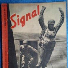 Militaria: SIGNAL. Nº 13 DE 1941. ESPAÑOL. FALLSCHIRMJÄGER, CRETA, PRIEN, SUBMARINOS.. Lote 243895335