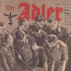 Militaria: REVISTA DER ADLER 4 ABRIL 1944. Lote 163682014