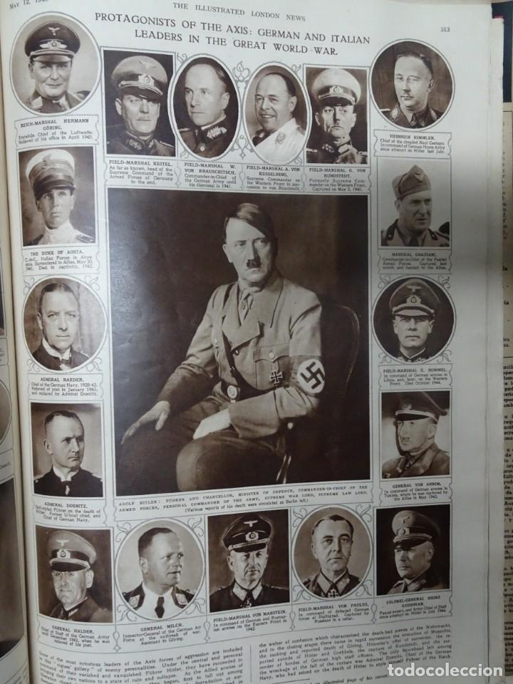 ANTIGUO TOMO SOBRE 1ª Y 2ª GUERRA MUNDIAL ,CON PERIÓDICOS Y REVISTAS DE LA ÉPOCA, VER FOTOS (Militar - Revistas y Periódicos Militares)