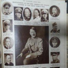Militaria: ANTIGUO TOMO SOBRE 1ª Y 2ª GUERRA MUNDIAL ,CON PERIÓDICOS Y REVISTAS DE LA ÉPOCA, VER FOTOS. Lote 164654102