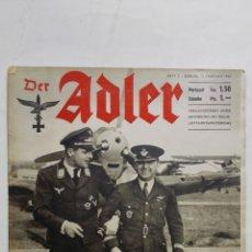 Militaria: PERIODICO DER ADLER, Nº 3, BERLIN 11 DE FEBRERO DE 1941, PORTADA TROPAS DE INSTRUCCION DE LA AVIACIO. Lote 164832974