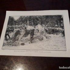 Militaria: PRIMERA GUERRA MUNDIAL - SOLDADOS BELGAS - HOJA REVISTA DE SEPTIEMBRE DE 1914 - 28 X 21 CM. Lote 167841212