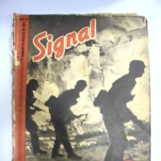 Militaria: REVISTA MILITAR SIGNAL. 1ER. NUMERO DE AGOSTO DE 1941. Nº 15.. Lote 167928620