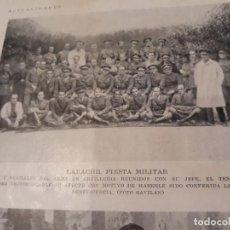 Militaria: LARACHE FIESTA MILITAR - JEFES Y OFICIALES DE ARTILLERÍA - AÑO 1931 - HOJA - 25 X 17 CM. Lote 168042048