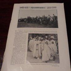 Militaria: FAMILIA REAL EN MANIOBRAS BRIGADA HUSARES DE PAVIA EN ALCALA DE HENARES - 1906 - 28X20 CM. Lote 168272552