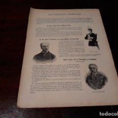 Militaria: LOS CAPITANES GENERALES DEL EJERCITO ESPAÑOL EN 1895 -HOJA REVISTA 28 X 20 CM. Lote 168578260