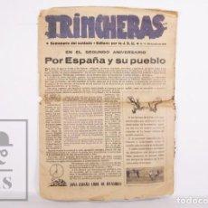 Militaria: REVISTA REPUBLICANA TRINCHERAS. SEMANARIO DEL SOLDADO - JSU / SOCIALISTAS, 1938 - AUCA, GUERRA CIVIL. Lote 168710672