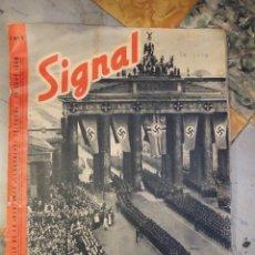 Militaria: REVISTA SIGNAL Nº 9 EDICION FRANCESA - AÑO 1940 TAPAS CON ALGUNA ROTURA EN EL LOMO INTERIOR PERFECTO. Lote 169567576