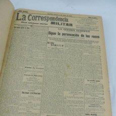 Militaria: LA CORRESPONDENCIA MILITAR, TOMO CON 157 PERIODICOS, 2º SEMESTRE DE 1915, DESDE EL NUMERO 11.485 DE . Lote 171009059