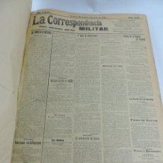 Militaria: LA CORRESPONDENCIA MILITAR, TOMO CON 159 PERIODICOS, 2º SEMESTRE DE 1914, DESDE EL NUMERO 11.173 DE . Lote 171009544