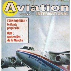 Militaria: AVIATION INTERNATIONAL Nº 835. Lote 171673143