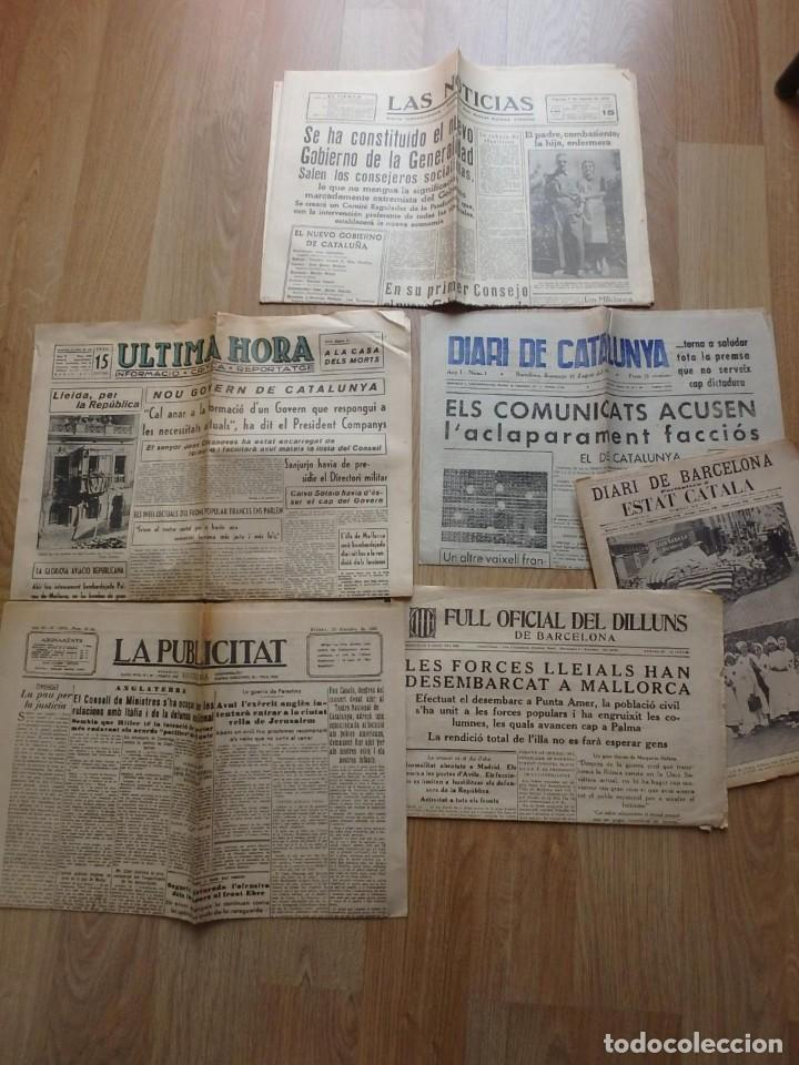 (JX-190796)LOTE DE SEIS PERIÓDICOS , GUERRA CIVIL ESPAÑOLA , AÑOS 1936-37 Y 38 . (Militar - Revistas y Periódicos Militares)