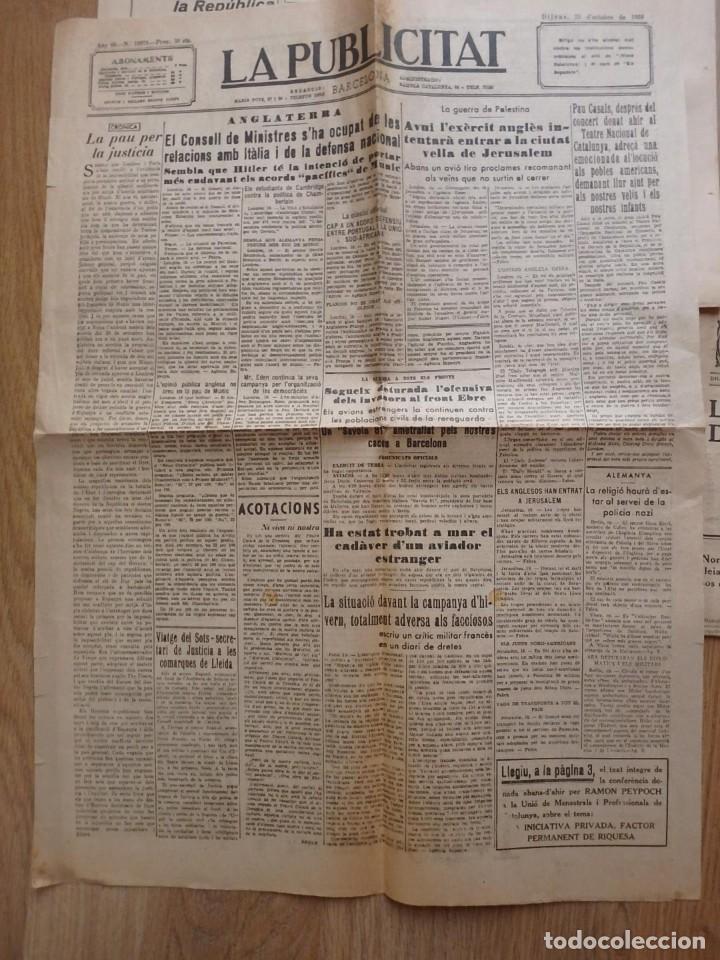 Militaria: (JX-190796)Lote de seis periódicos , Guerra Civil Española , años 1936-37 y 38 . - Foto 3 - 171810574