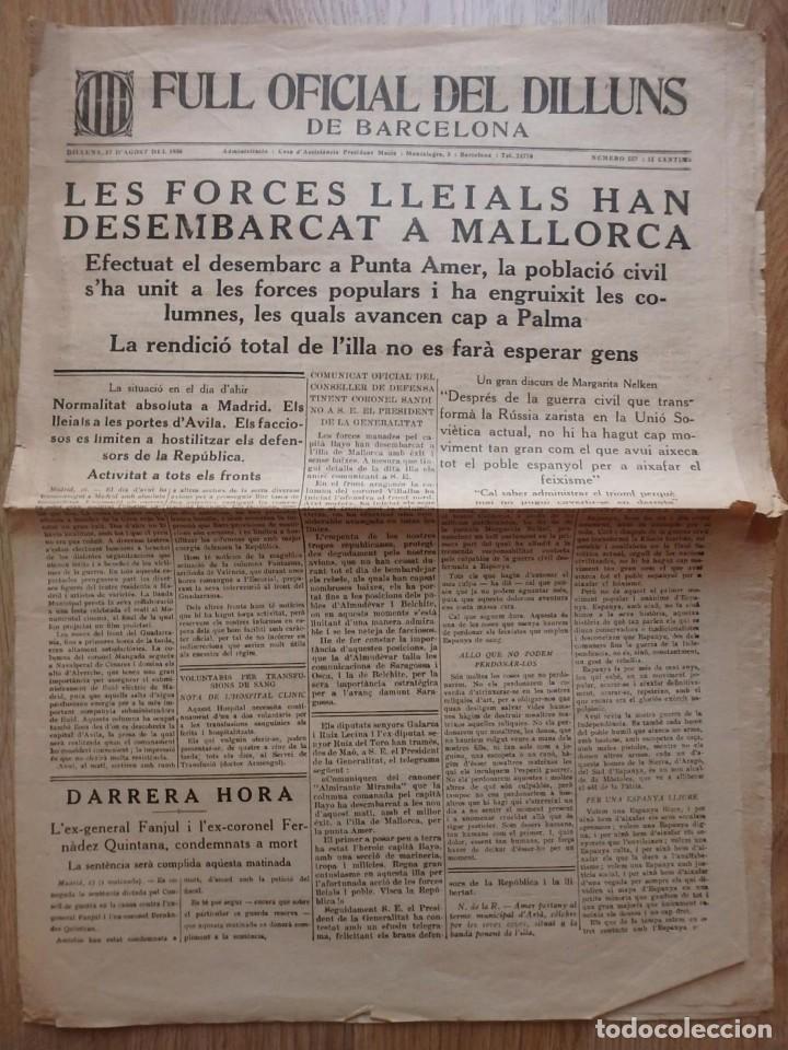 Militaria: (JX-190796)Lote de seis periódicos , Guerra Civil Española , años 1936-37 y 38 . - Foto 4 - 171810574