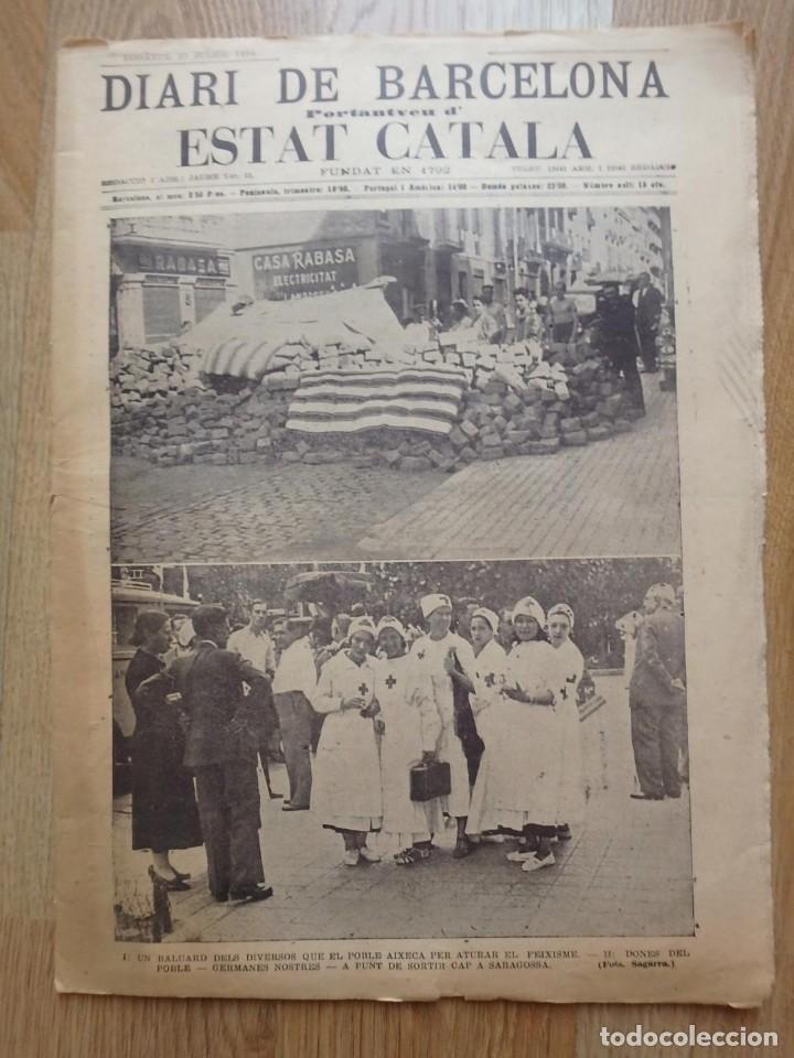 Militaria: (JX-190796)Lote de seis periódicos , Guerra Civil Española , años 1936-37 y 38 . - Foto 6 - 171810574