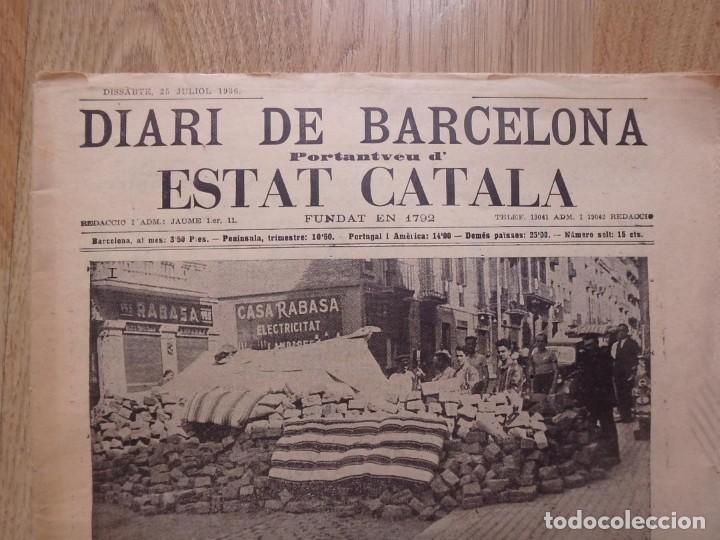 Militaria: (JX-190796)Lote de seis periódicos , Guerra Civil Española , años 1936-37 y 38 . - Foto 7 - 171810574