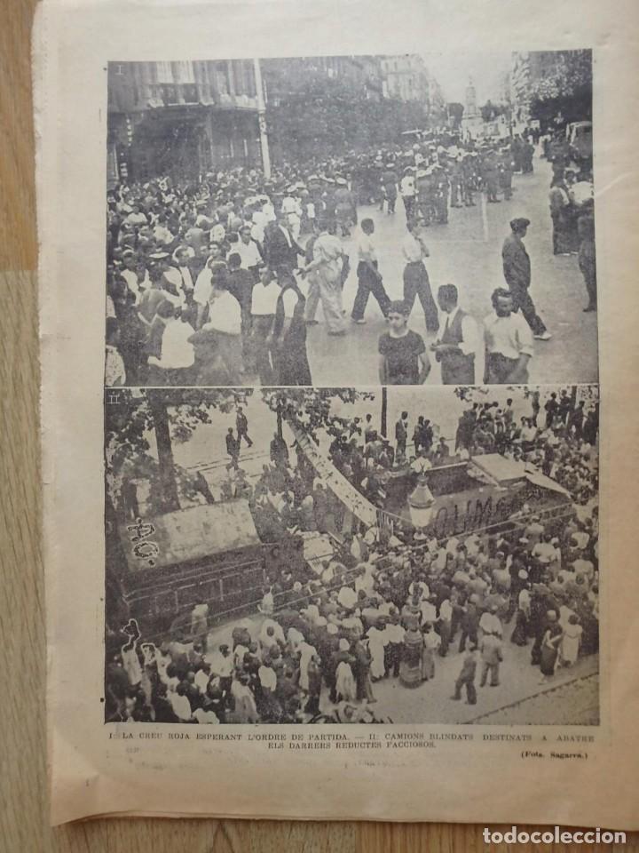 Militaria: (JX-190796)Lote de seis periódicos , Guerra Civil Española , años 1936-37 y 38 . - Foto 9 - 171810574