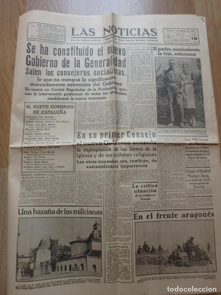 Militaria: (JX-190796)Lote de seis periódicos , Guerra Civil Española , años 1936-37 y 38 . - Foto 16 - 171810574