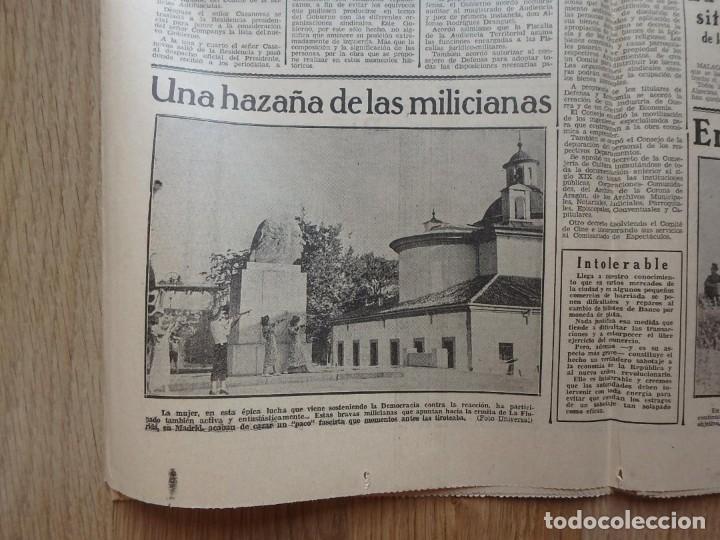 Militaria: (JX-190796)Lote de seis periódicos , Guerra Civil Española , años 1936-37 y 38 . - Foto 18 - 171810574