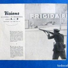 Militaria: VISIONS DE GUERRA I RERAGUARDA SERIE A Nº 2 LEER DESCRIPCION. Lote 171812304