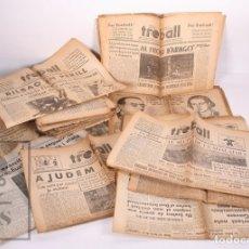 Militaria: 51 PERIÓDICOS GUERRA CIVIL ANTIFASCISTAS TREBALL, EN CATALÁN - FOTOS SOLDADOS, ETC - PSUC, 1936-1937. Lote 172829525