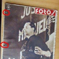 Militaria: FOTOS SEMANARIO GRAFICO NACIONALSINDICALISTA Nº 142 ESPECIAL JOSE ANTONIO. Lote 173555488