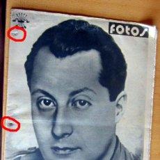 Militaria: FOTOS SEMANARIO GRAFICO NACIONALSINDICALISTA Nº 74 JOSE ANTONIO PRIMO DE RIVERA. Lote 173563160